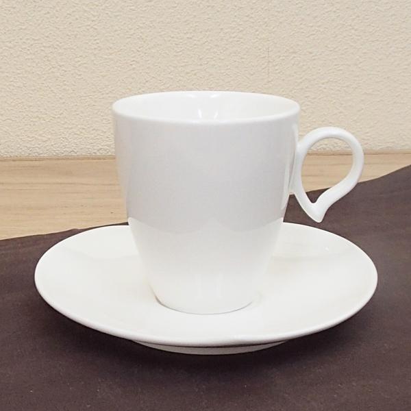 コーヒーカップソーサー 白 ハート ドルチェ 洋食器 業務用食器 商品番号:3b542-37