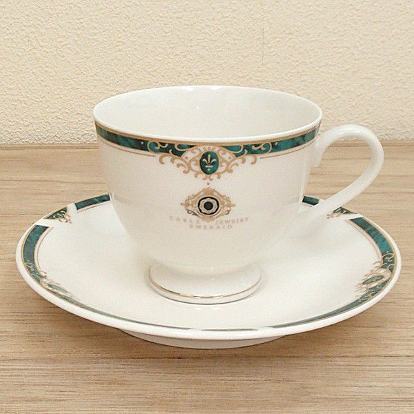 コーヒーカップソーサー エメラルド 高台 洋食器 業務用食器 商品番号:3d65113-496