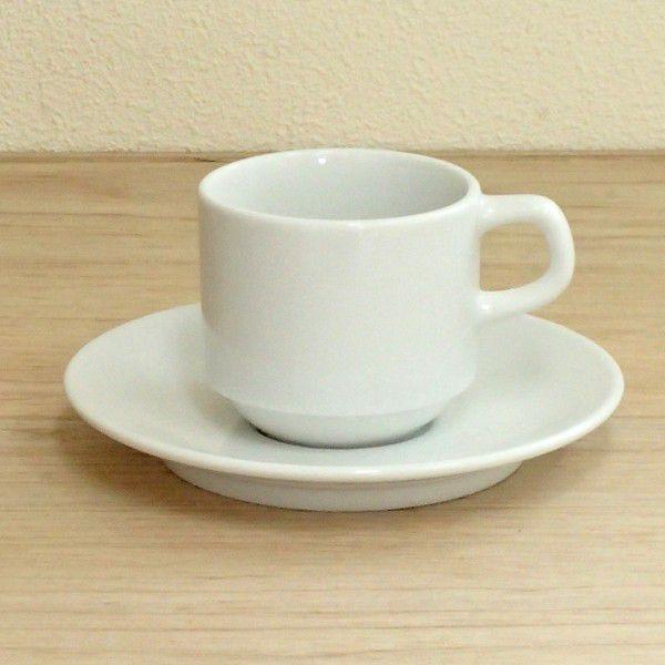 コーヒーカップソーサー 白 ホテルスタック 洋食器 業務用食器 商品番号:3y770-25-542